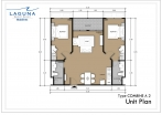 Laguna Beach Resort 3 Maldives - unit plans - type A - 5