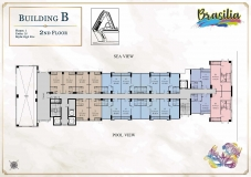 Seven Seas Le Carnival Pattaya - building B Brasilia - floor plans (28 floors) - 2