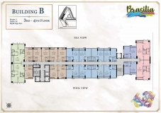 Seven Seas Le Carnival Pattaya - building B Brasilia - floor plans (28 floors) - 3