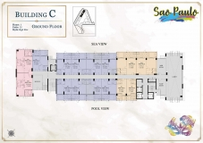 Seven Seas Le Carnival Pattaya - building C Sao Paolo - floor plans (28 floors) - 1