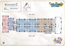 Seven Seas Le Carnival Pattaya - building C Sao Paolo - floor plans (28 floors) - 2