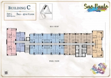 Seven Seas Le Carnival Pattaya - building C Sao Paolo - floor plans (28 floors) - 3