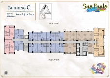 Seven Seas Le Carnival Pattaya - building C Sao Paolo - floor plans (28 floors) - 4
