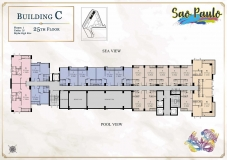 Seven Seas Le Carnival Pattaya - building C Sao Paolo - floor plans (28 floors) - 5