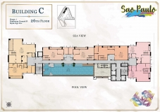 Seven Seas Le Carnival Pattaya - building C Sao Paolo - floor plans (28 floors) - 6