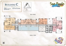 Seven Seas Le Carnival Pattaya - building C Sao Paolo - floor plans (28 floors) - 7