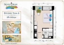 Seven Seas Le Carnival Pattaya - studio plans - 2