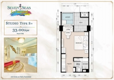 Seven Seas Le Carnival Pattaya - studio plans - 3