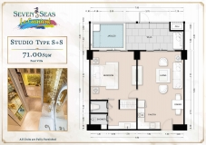 Seven Seas Le Carnival Pattaya - studio plans - 4