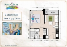 Seven Seas Le Carnival Pattaya - 1 bedroom apartment plans - 1