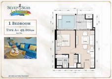 Seven Seas Le Carnival Pattaya - 1 bedroom apartment plans - 3