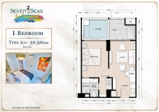 Seven Seas Le Carnival Pattaya - 1 bedroom apartment plans - 4