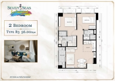 Seven Seas Le Carnival Pattaya - 2 bedrooms apartment plans - 3